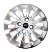 Calota Aro 13 Tuning Passat CC Rosca White Chrome + Emblema