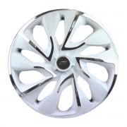 Calota Aro 14 Tuning Ds4 Rosca White Chrome + Emblema