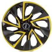 Calota Aro 14 Tuning Ds4 Rosca Yellow + Emblema