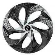 Calota Aro 14 Tuning Evolution Rosca Black Chrome + Emblema
