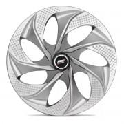 Calota Aro 14 Tuning Evolution Rosca Silver Graphite + Emblema