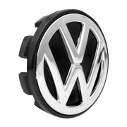 Calota Miolo Roda Polly Ramlow Shock 55mm Gol Turbo Vw 3D CB