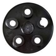 Calota Ducato Centro Roda Aro 16 Com Emblema - Preta