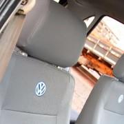Capa Banco Carro Universal VW Couro Ecológico Cinza