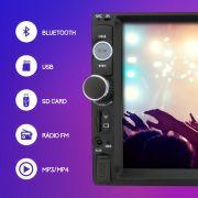 Central Multimídia Rádio FM MP5 Bluetooth SD MP3 USB Touch