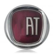 Emblema Adesivo Fiat Vermelho Cromado Alto Relevo 3D