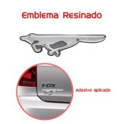 Emblema Adesivo Resinado Raposa Fox Crossfox Prata - Diadema