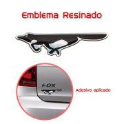 Emblema Adesivo Resinado Raposa Fox Crossfox Preto - Diadema
