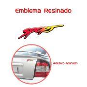 Emblema Adesivo Resinado Astra Sport Vermelho Amarelo Grande