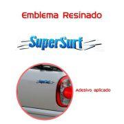 Emblema Adesivo Super Surf Saveiro Parati Gol 03/08 Azul