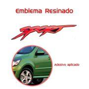 Emblema Adesivo Resinado Astra Sport Vermelho - Grande