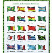 Emblema Bandeira Países Adesivo Resinado Etiqueta - Diadema