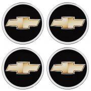 Emblema Roda 90mm Resinado Gm Corsa Celta Onix Prisma 4un