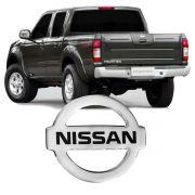 Emblema Traseiro Cromado Resinado Logo Nissan Menor Frontier