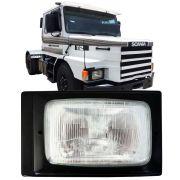 Farol Dianteiro Com Moldura Preta Scania 112 113 1987 A 1993