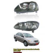 Farol Mascara Cinza Toyota Corolla E Fielder 03 04 05 06 07