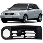 Grade Moldura Farol Milha Audi A3 2001 a 2007 Com Furo