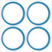 Jogo 4 Anel Centralizador Roda Hyundai 73,00mm 67,10mm Azul