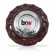 Jogo 4 Calota Centro Miolo Roda BBS Brw900 Vinho Emblema