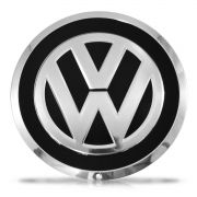 Jogo 4 Calota Centro Miolo Roda Up Emblema VW - Preto