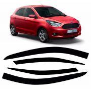 Jogo Calha De Chuva Defletor Novo Ka 2016 a 2020 Hatch Sedan