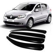 Calha Acrilica Chuva Renault Sandero 2014 a 2020 - 4 Portas