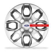 Jogo Calota Aro 14 Novo Ka Sedan 2015 Emblema Ford