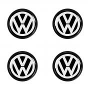 Jogo Calota Centro Miolo Roda VW Universal 49mm Emb Vw