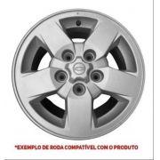 Jogo Calota Centro Roda S10 Blazer 97 A 02 Prata