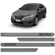 Jogo de Friso Lateral Pintado Nissan Sentra - Produto Novo