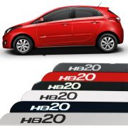 Jogo Friso Lateral Hyundai Hb20 Logo Resinado
