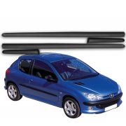 Jogo Friso Lateral Peugeot 206 207 Todos 2 Portas - Diadema
