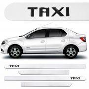 Jogo Friso Lateral Universal Escrita Taxi Resinado - Branco
