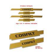 Jogo Soleira Resinada Dourado GM Cobalt 4 peças - Diadema