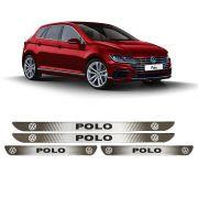 Jogo Soleira Resinada Personalizada VW Polo 2018 2019 - 4pçs
