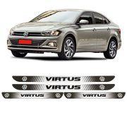 Jogo Soleira Resinada Personalizada VW Virtus - 4pçs