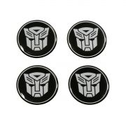 Kit 04 Emblema Roda 48mm Resinado Transformers Autobots