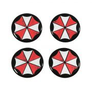 Kit 04 Emblema Roda 48mm Resinado Umbrella Resident Evil