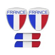 Kit 10 Adesivo Resinado França Renault Citroen Peugeot 40pçs