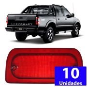Kit 10 Lente Lanterna Luz Freio Teto Break Light S10 1995 A 2011