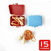 Kit 15 peças Protetor Auricular em silicone 15db - Diadema