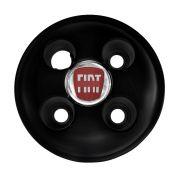 kit 20 Calota Miolo De Roda Strada 2000 Emblema Fiat - Preto