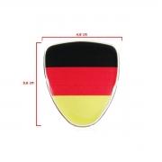 Kit Adesivo Resinado Coluna Escudo Bandeira Alemanha 3pçs