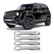 Kit Aplique Cromado Capa Maçaneta Keyless Jeep Renegade
