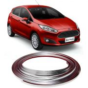 Kit Aplique Friso Cromado Grade New Fiesta 2014 2015 2016