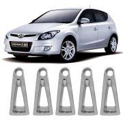 Kit  5pçs Aplique Cromado Roda Calota Hyundai I30 2009 A 2012