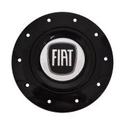 Jogo Calota Centro Roda Fiat Preto Aro 13 15 Amarok + Chave