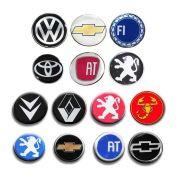 Kit Emblema Roda 48mm Resinado Vw Gm Peugeot