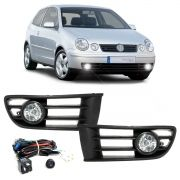 Kit Farol De Milha Polo 2003 2004 2005 2006 Hatch Sedan