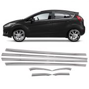 Kit Friso Cromado Pestana Base Vidro New Fiesta Hatch